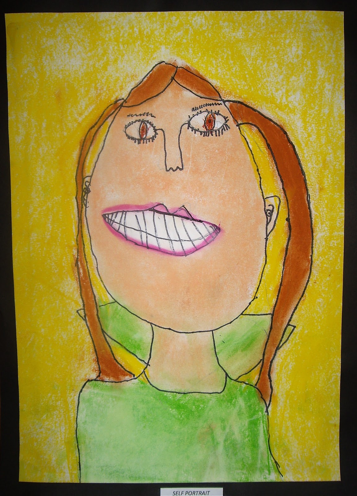 Use Your Coloured Pencils Grade 2 And 3 Self Portraits