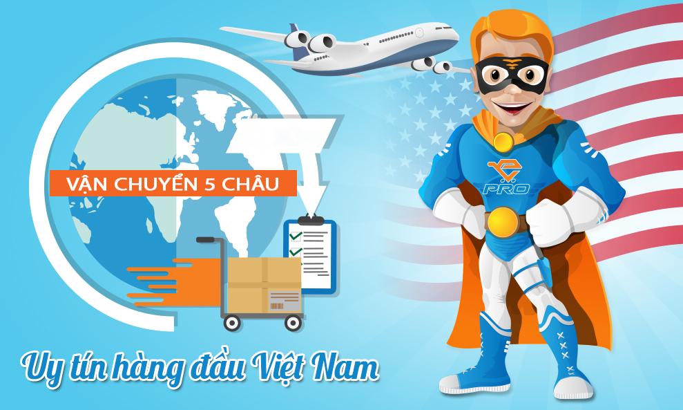 VẬN CHUYỂN 5 CHÂU – Chuyên gửi hàng từ Mỹ uy tín hàng đầu Việt Nam