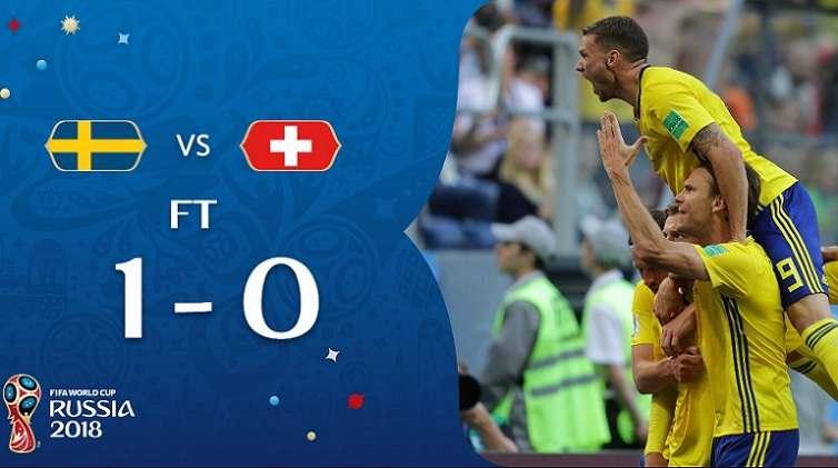 Hasil Swedia vs Swiss Skor Akhir 1-0   Babak 16 Besar World Cup 2018