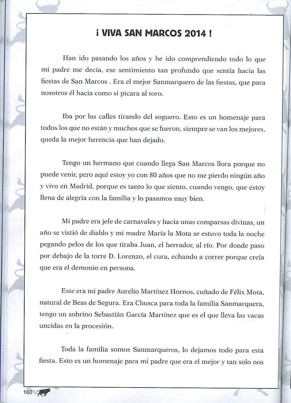 Fiestas de San Marcos: Libro de las Fiestas de San Marcos 2014