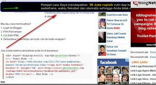 Membuat Gambar Iklan Melayang Di Header Wapblog.id