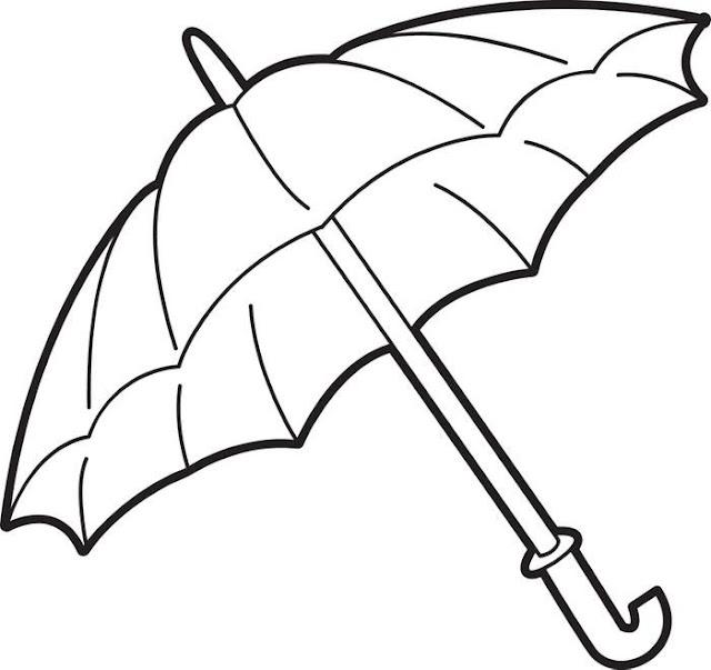 dibujos de paraguas para pintar
