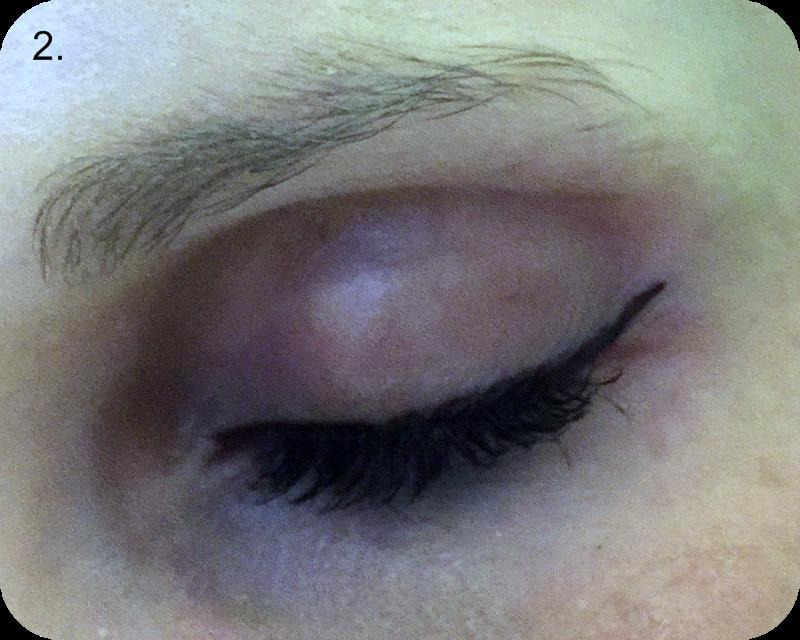 work that trend - catwalk scissor eye flick step 2