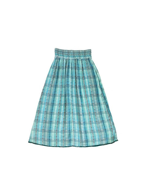 Ace & Jig Ra Ra Midi Skirt in Emerald/Sky