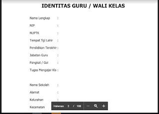 Identitas Guru Wali Kelas, http://www.librarypendidikan.com/