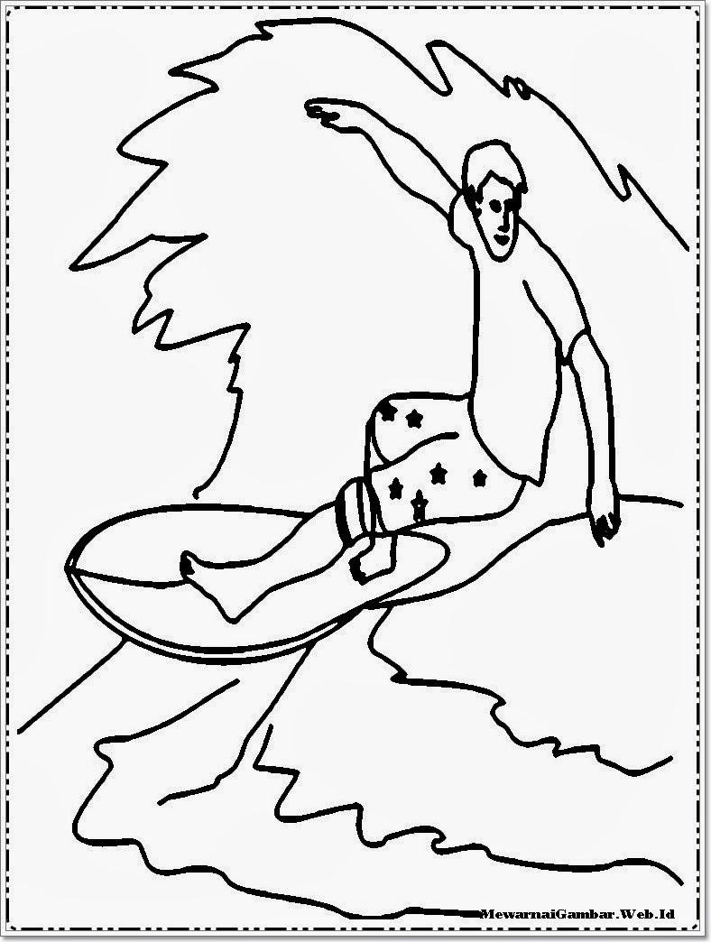 Ahmedatheism Mewarnai Gambar Orang Berenang