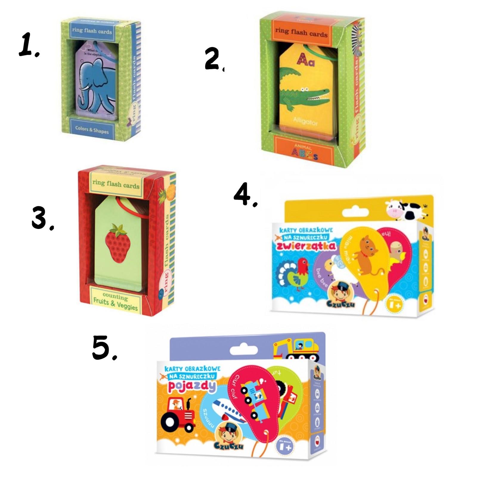 Karty do nauki dla rocznego dziecka