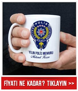 Polislere Özel İsimli Kahve Kupası