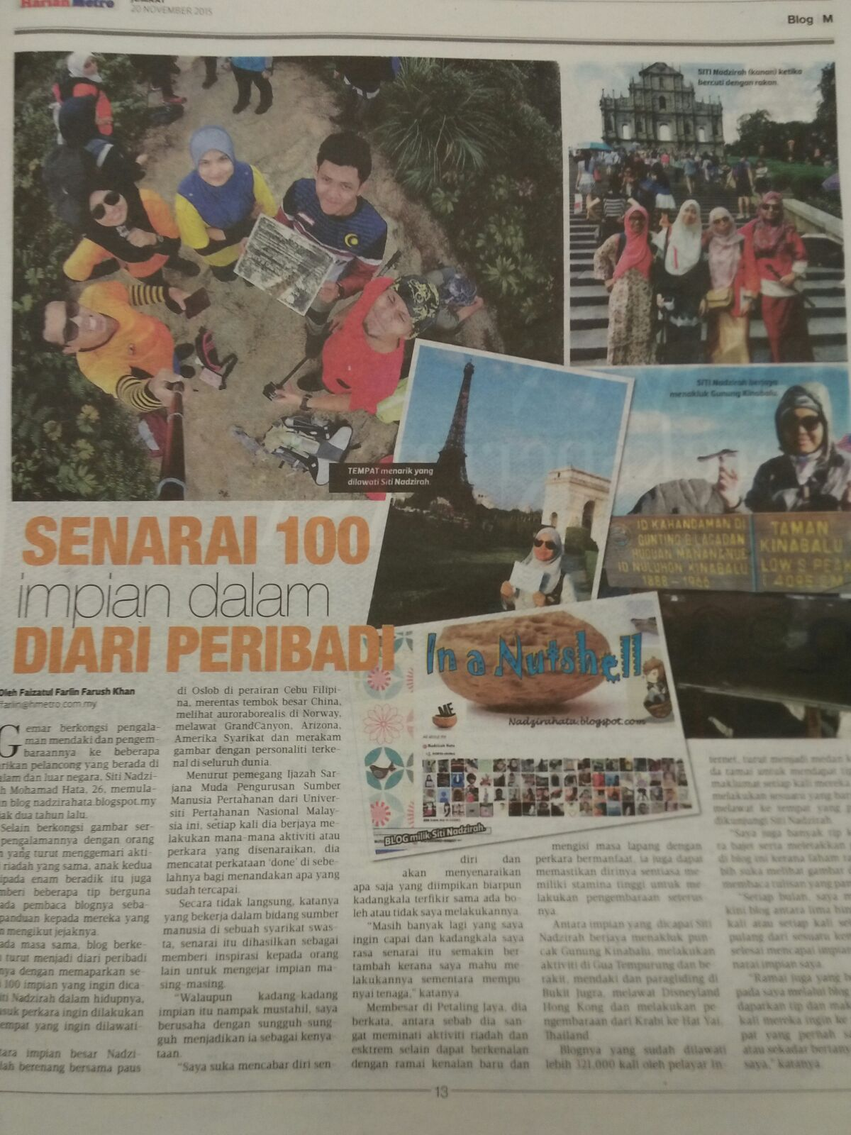 'In a Nutshell' in Harian Metro