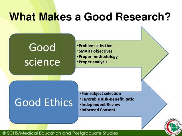 Good Research Ethics Means Svtuition