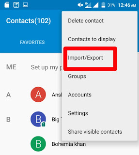 Import export contact