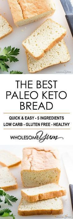 EASY PALEO KETO BREAD RECIPE - 5 INGREDIENTS