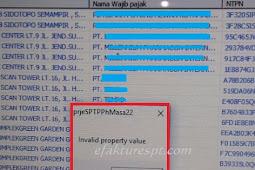 Solusi eSPT Error Invalid Property Value