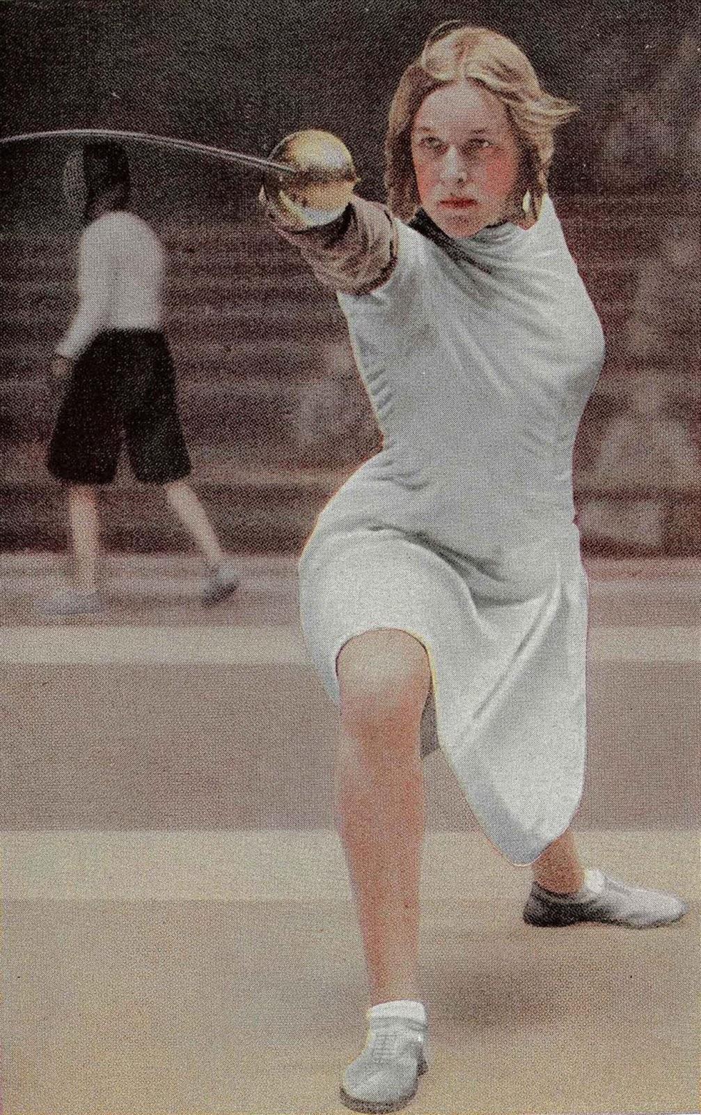 Mayer at the Los Angeles Olympics. 1932.