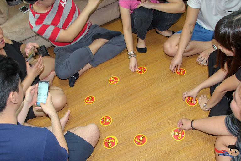 Playing Spot It in one of our Hobby Days