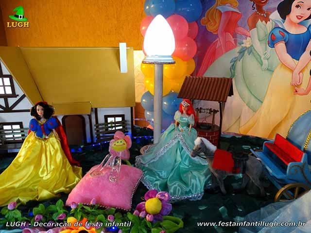 Decoração tema Princesas da Disney - Festa de aniversário infantil