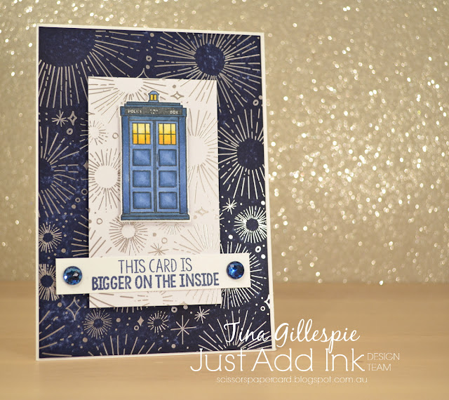 scissorspapercard, Stampin' Up!, Kindred Stamps, Just Add Ink, Time Traveller, Year Of Cheer SDSP, Blends