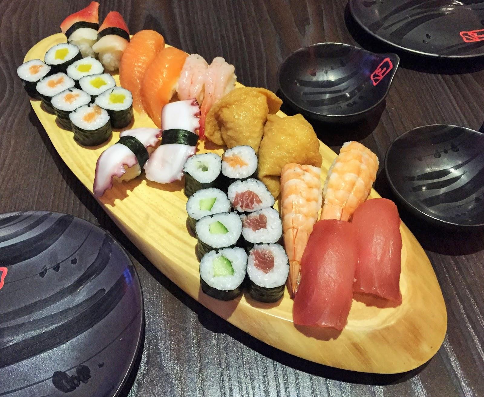 Sushi at Sumo San, Sheffield