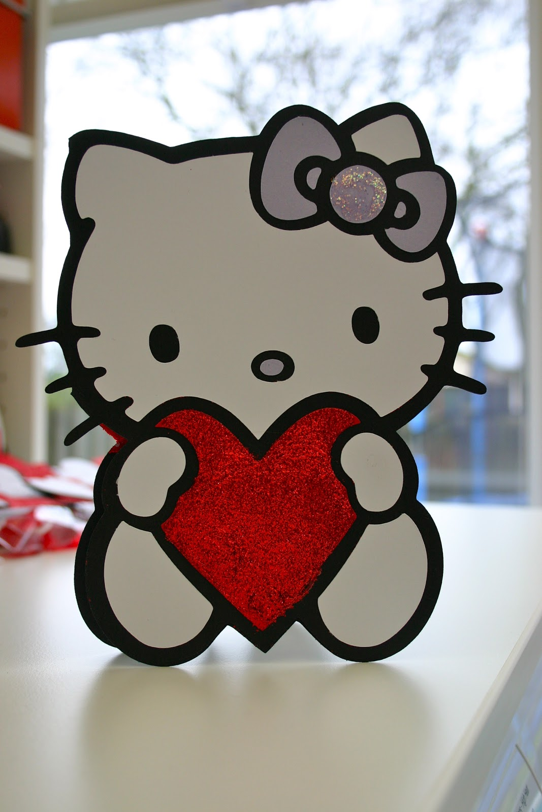 Joselia Crafts: 'Hello Kitty' Valentine's Day Card