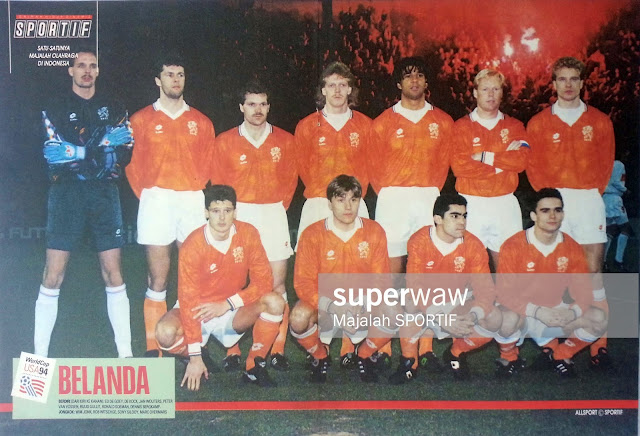 NETHERLAND HOLLAND WORLD CUP USA 94