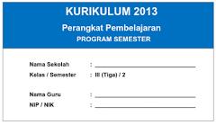 Prota, Promes Dan KKM Kurikulum 2013 Semester 1 Dan 2 Kelas 3 SD/MI Terbaru