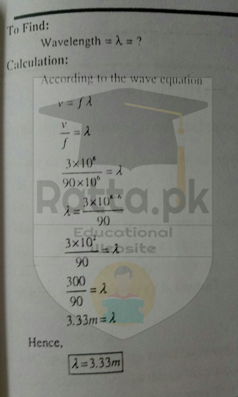 10th Class Physics Chapter 10 Numerical Problems Solved 5