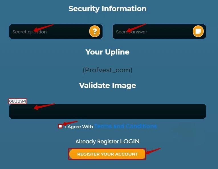 Регистрация в Unixtrades 3