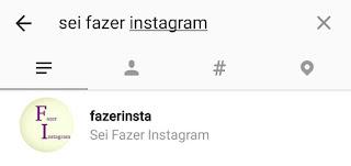 Seguir o fazer instagram