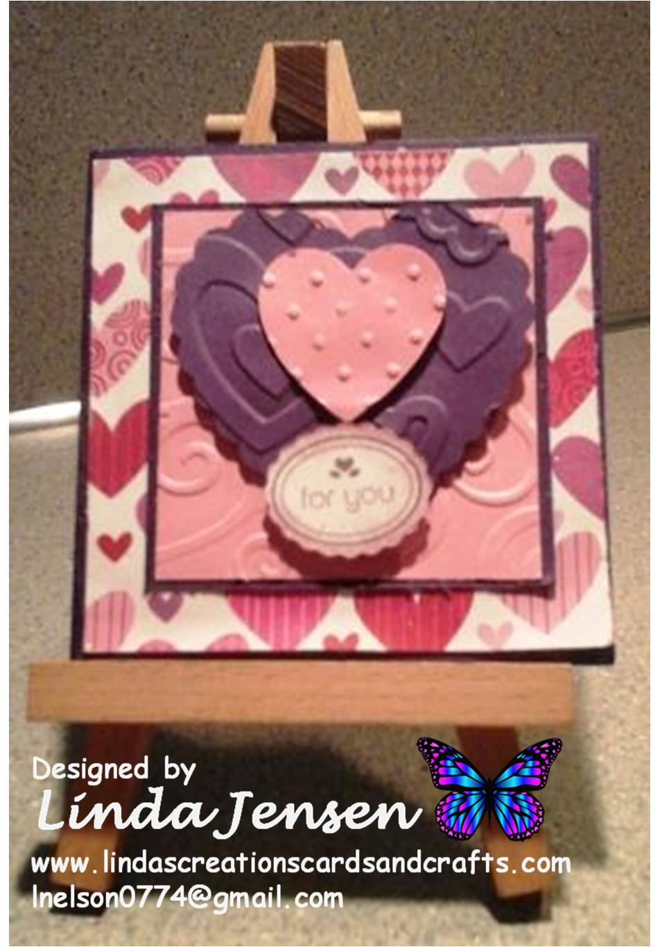 Linda S Creations Cards Amp Crafts My Little Valentine Card