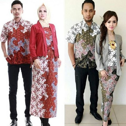 15 Desain Baju Batik Couple Anak Muda Model Terbaru 2017