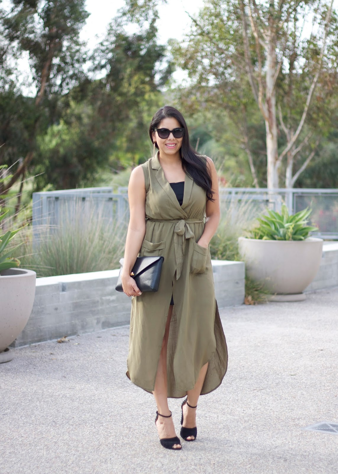 San Diego style blogger, san diego fashion blogger, fall 2015 outfit in san diego, olive green midi dress