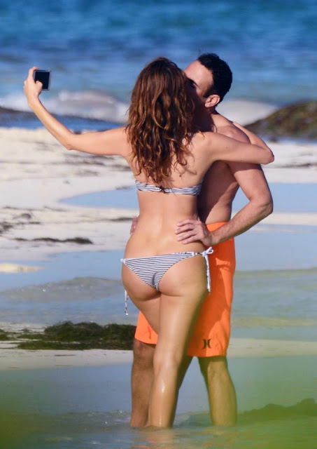 Maria Menounos in Bikini on the beach in Mexico