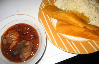 MOI MOI WITH RICE AND STEW