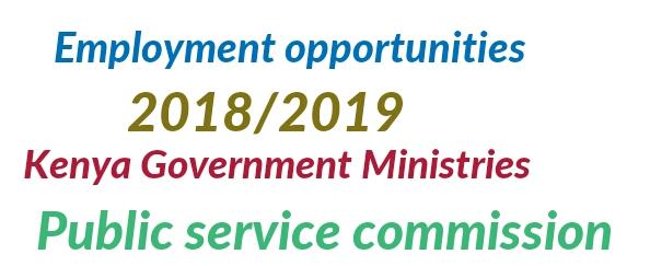 Kenya government ministries jobs vacancies 2018 /2019