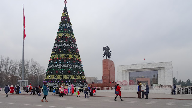 New years tree in Bishkek