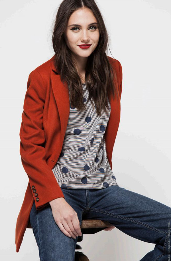 Moda invierno 2017 ropa de moda abrigos.
