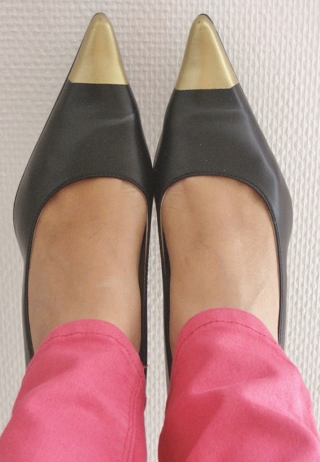 Zapatos punta metalizada / Cap-toe heels