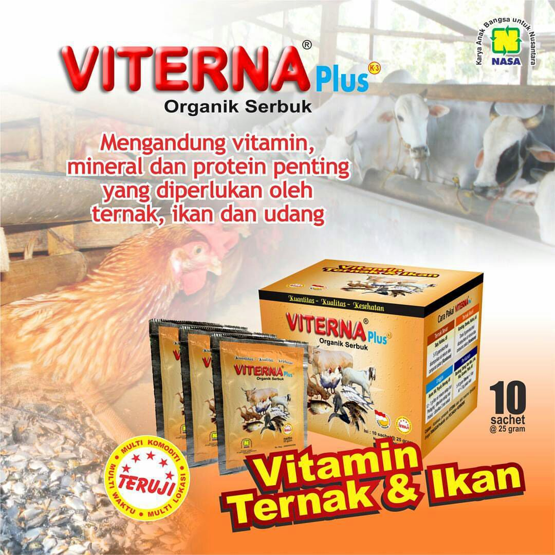 VITERNA Plus Organik Serbuk - Vitamin Ternak & Ikan
