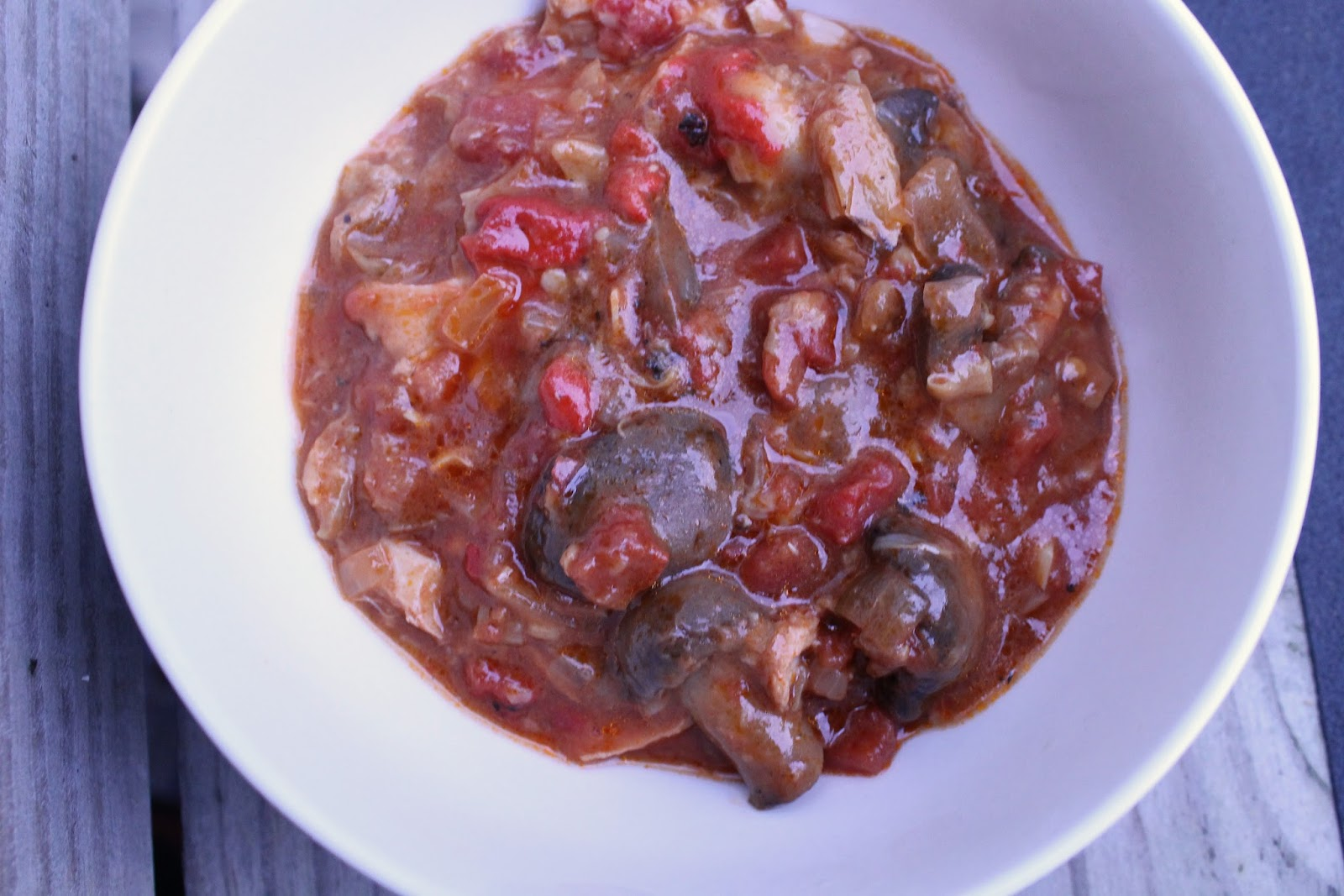 Slow Cooker Crock Pot healthy Chicken Cacciatore