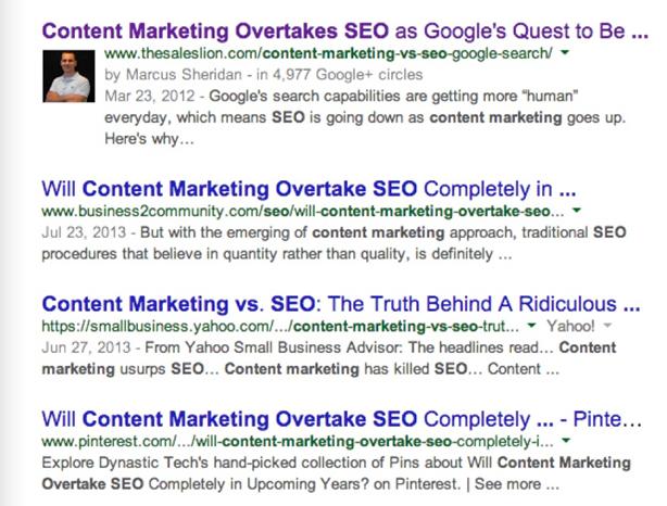 Sự thật về SEO và Content Marketing