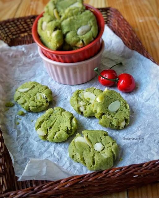 Almond Green Tea Cookies