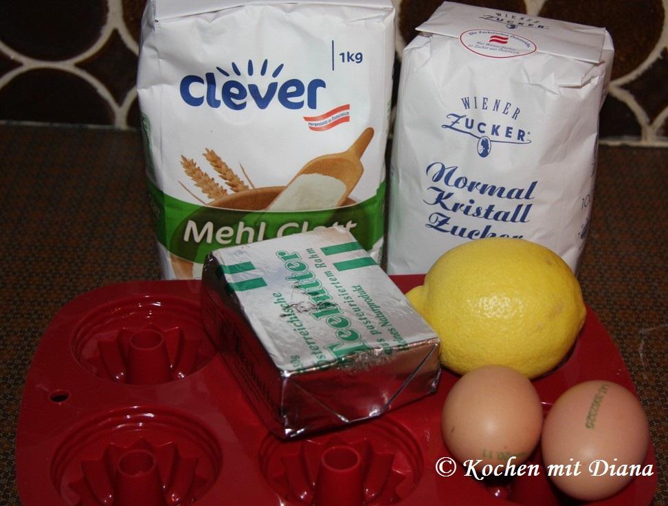 Zutaten Mini Zitronen Gugelhupf