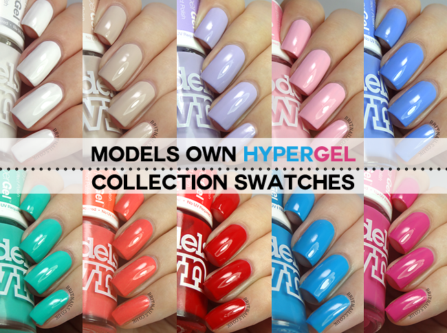 Models Own hypergel swatches