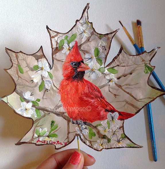 Awesome Leaf Paintings