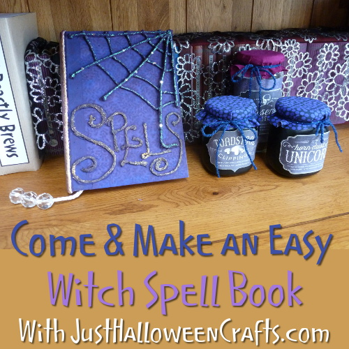How to make a spells book witch wizard design free tutorial craft with photos