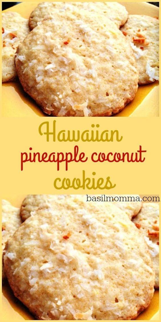 Hawaiian Pineapple Coconut Cookies
