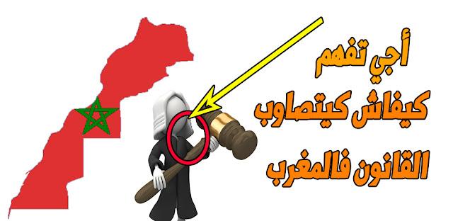 أجي تفهم كيفاش كيصاوب القانون فالمغرب ( أسرع شرع غتفهم بيه)