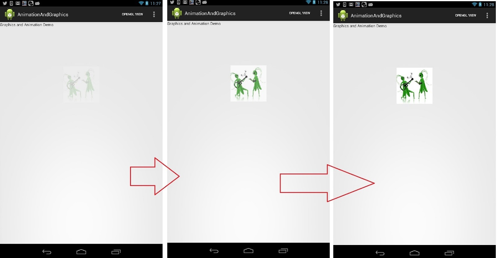 Android Animate Fade In/Fade Out tutorial and sourcecode