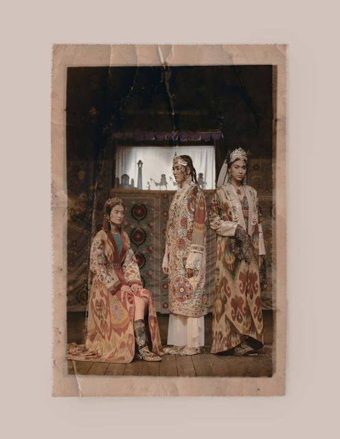 uzbekistan art craft textile tours, uzbekistan small group tours, ikat silk uzbekistan fashion, lali fazylova central asian designs
