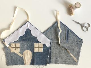 completa creando la casetta di jeans